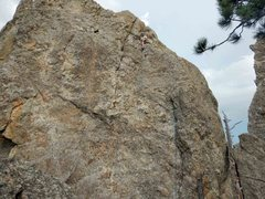 Rock Climbing Photo: Rich at the shared anchors used for E-clips.  The ...