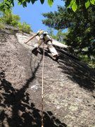 Rock Climbing Photo: Sea of Green Direct Start 5.9+X Var.