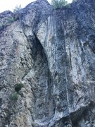Rock Climbing Photo: Obvious dark streak