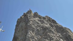 Rock Climbing Photo: Brenda at the shared anchors for Chewy's Tumbl...