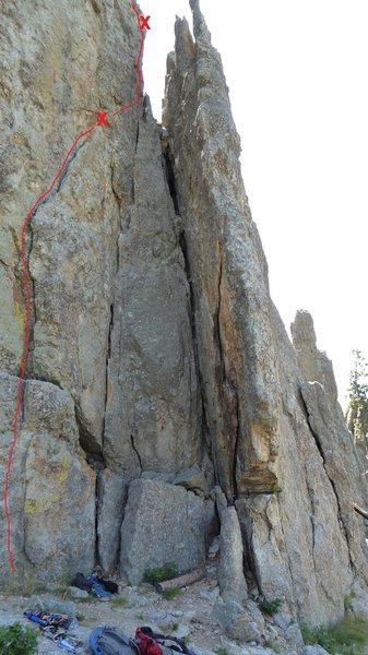 Rock Climbing Photo: Klingon Flake.