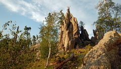 Rock Climbing Photo: Rich on Vigilante/Thin Fin summit.