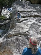 Rock Climbing Photo: Lori Williams following Chongo's Arete.