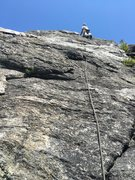 Rock Climbing Photo: RH leads P2 of Sun and Games