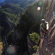 Rock Climbing Photo: Green spur to rewritten