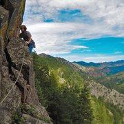 Rock Climbing Photo: P1 of Heavy Weather, Peanuts Wall