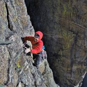 Rock Climbing Photo: Evidence of just how good that dihedral pitch is! ...