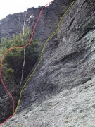Rock Climbing Photo: Conor Mark on the FA of Red Marrow, Yellow Marrow ...