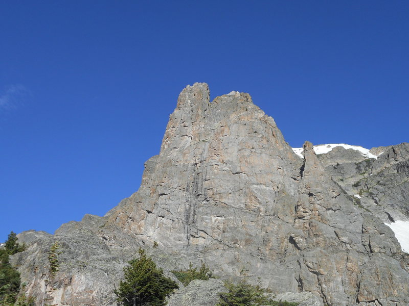 Spiral route, Notchtop Mt. RMNP. Free solo.
