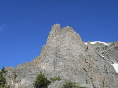 Rock Climbing Photo: Spiral route, Notchtop Mt. RMNP. Free solo.