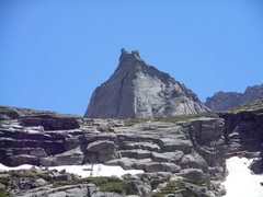 Rock Climbing Photo: North ridge, Spearhead. RMNP. Free solo.