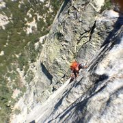 Rock Climbing Photo: Justin jamming on Pitch 2 of El Whampo.
