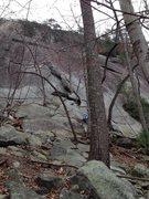 Rock Climbing Photo: U slot from the approach scramble.