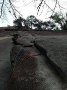 Rock Climbing Photo: Follow the rope line for the route we climbed on U...