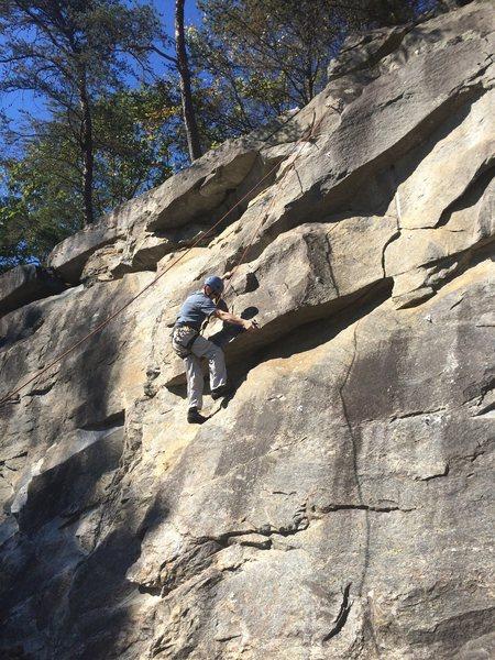 DG climbing Bob Left.