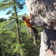 Rock Climbing Photo: American Dream Roof @ Devils Lake