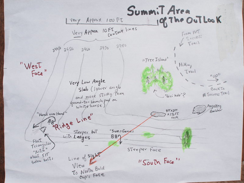Sketch of Summit Area of Outlook