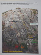 Rock Climbing Photo: The Reported Routes on The Outlook