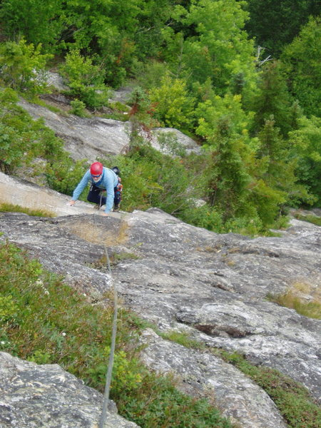"Rock Climbing Photo: RW TR's the ""White Slab"" just to rig..."