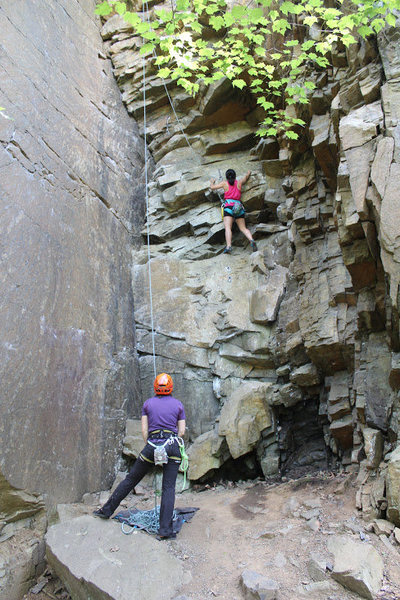 Rock Climbing Photo: Photo credit: David Chu  Top roping Jenga in Birds...