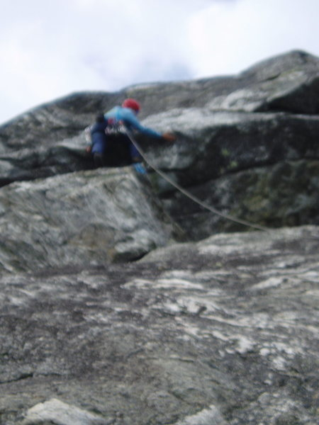 RW on top of buttress: flake his right hand is on is hollow (sorry about the focus)