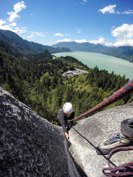 Rock Climbing Photo: View from the first belay.