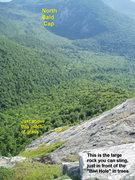 Rock Climbing Photo: Looking at No. Bald Cap AND towards the top anchor...