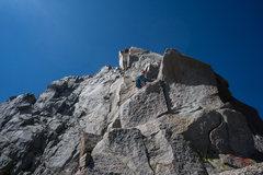 Rock Climbing Photo: Climbing massive blocks on pitch 2.