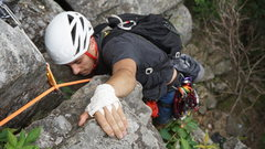Rock Climbing Photo: Gunks local Ryan C. working his way through the no...