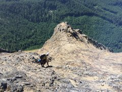 Rock Climbing Photo: continue one gully over to the right from this poi...