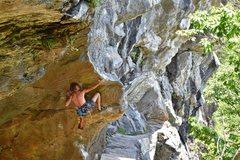 Rock Climbing Photo: Emeric Aussedat on The Crusher
