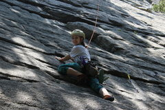 Rock Climbing Photo: Alexa on first pitch of Northern Pillar 5.2 in the...