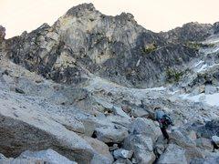 Rock Climbing Photo: Approaching the West Face of Colchuck Balanced Roc...
