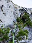 Rock Climbing Photo: Midway up Pitch 1. 5.7 rock and tree climbing to g...