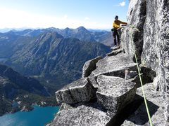 Rock Climbing Photo: From the top of Pitch 7, move right about 40 feet ...