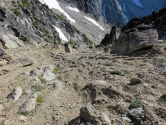 Rock Climbing Photo: The start of the descent down and around the south...
