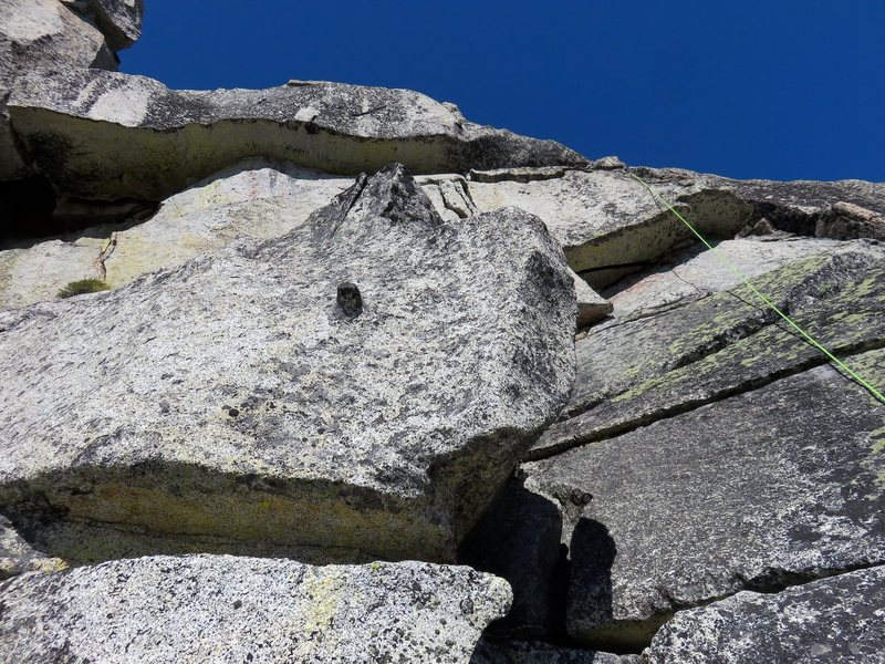 Rock Climbing Photo: Looking up from the ledge at the 5.6 terrain to th...
