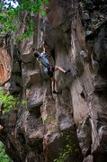 "Rock Climbing Photo: Nat cruxin' on ""PBR Street Gang"" (5...."