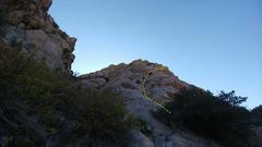 Rock Climbing Photo: Pitch 1. Photo Ian Harris.