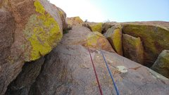Rock Climbing Photo: Pitch 3, from about the place where you leave the ...
