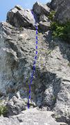 Rock Climbing Photo: Le baiser de Mélanie 5.8
