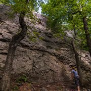 Rock Climbing Photo: Climbing Classic Crack in August, 2016.