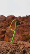 Rock Climbing Photo: Red=Cluckers variation Green=Event Horizon variati...