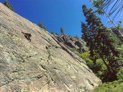Rock Climbing Photo: 5.9-5.10(?) slab