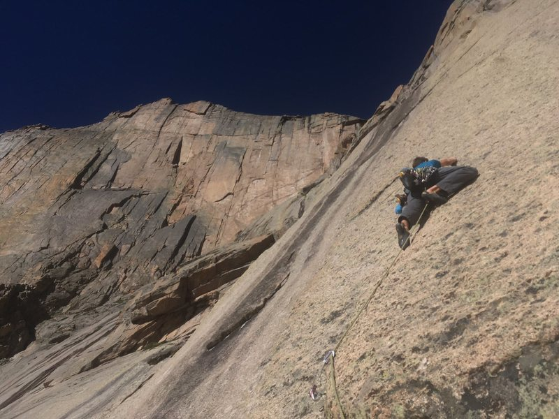 Slab climbing!<br> <br> Jesse Huey photo.