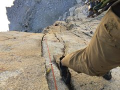 Rock Climbing Photo: Linking pitches 7 & 8 afforded me an unplanned opp...