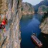 Caroline Plouff Climbing in Halong Bay