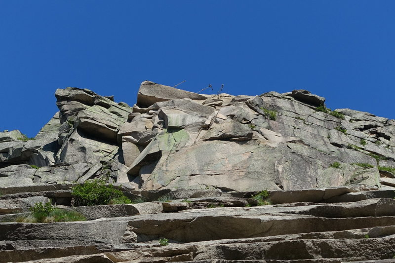 Rock Climbing Photo: Looking up where the Old Man used to be.