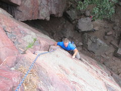 Rock Climbing Photo: Mike at the crux