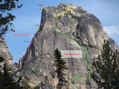 Rock Climbing Photo: North Face and NorthWest Face of Kangaroo Temple